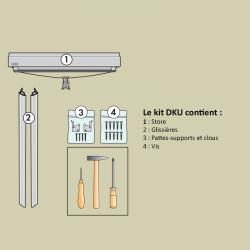 Store occultant VELUX manuel bleu foncé DKU 606 contenu