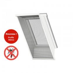 Moustiquaire VELUX CK02 Profilés blancs - Fenêtre de toit fond blanc
