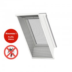 Moustiquaire VELUX UK04 Profilés blancs - Fenêtre de toit fond blanc