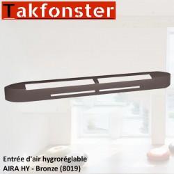Entrée d'air hygroréglable AIRA HY - Bronze 8019 - Anjos