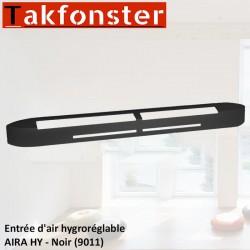 Entrée d'air hygroréglable AIRA HY - Noir 9011 - Anjos