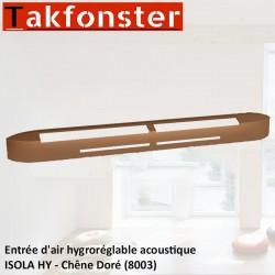 Entrée d'air hygroréglable acoustique ISOLA HY - Chêne Doré 8003 - Anjos