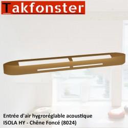 Entrée d'air hygroréglable acoustique ISOLA HY - Chêne Foncé 8024 - Anjos