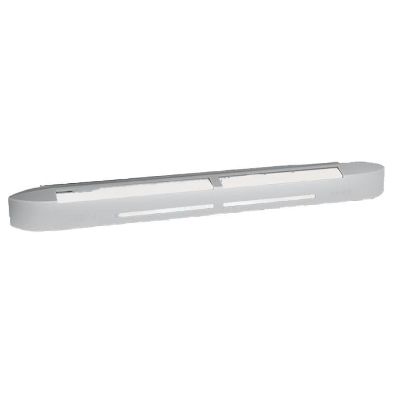 Entrée d'air hygroréglable acoustique ISOLA HY - Gris 7035 - Anjos, fond blanc