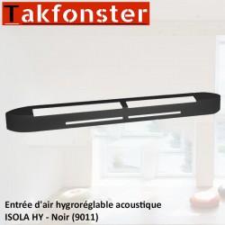 Entrée d'air hygroréglable acoustique ISOLA HY - Noir 9011 - Anjos