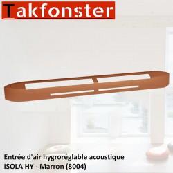 Entrée d'air hygroréglable acoustique ISOLA HY - Marron 8004 - Anjos