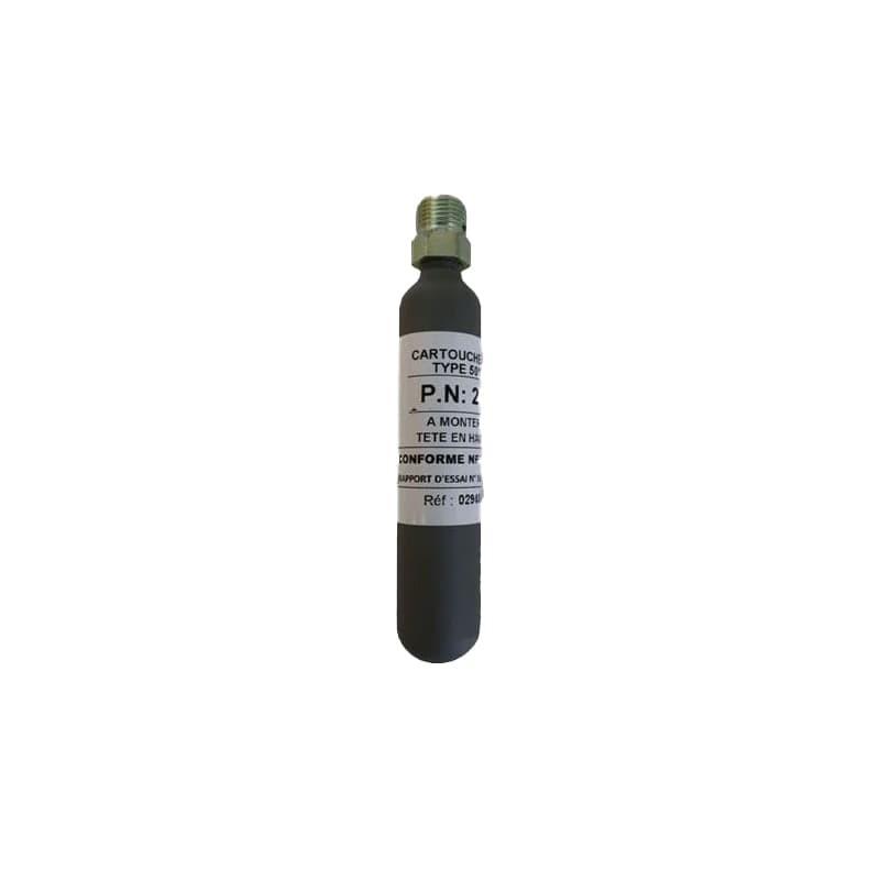 Cartouche CO2 20g 50°C MADICOB sans bague pneumatique A.P.S. à usage unique
