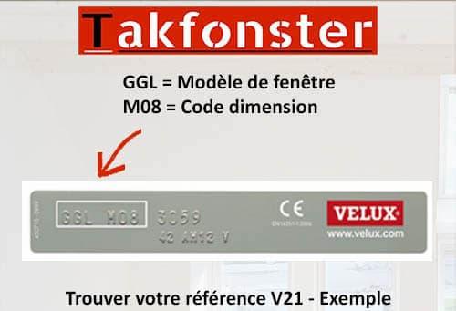 Plaque VELUX V21